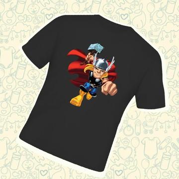 Camiseta Infantil Thor Herói C118PR