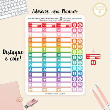 Adesivo para Planner Lembretes Funcionais