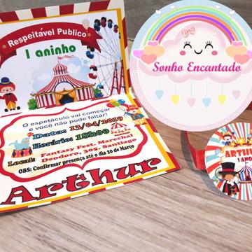 Convite Personalizado Infantil do Circo