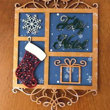 Enfeite de porta Feliz Natal