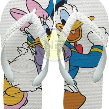 Chinelo Havaianas Personalizado Magali & Pato Donald