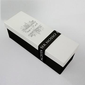 Caixa convite padrinhos - preto e branco
