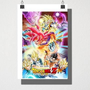Poster A4 Dragon Ball Z batalha dos deuses