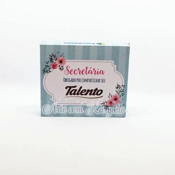 Caixa Chocolate Dia das Secretárias