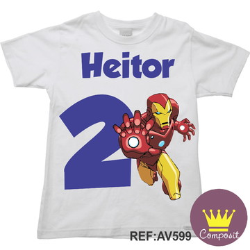Camiseta Homem de Ferro. Aniversario