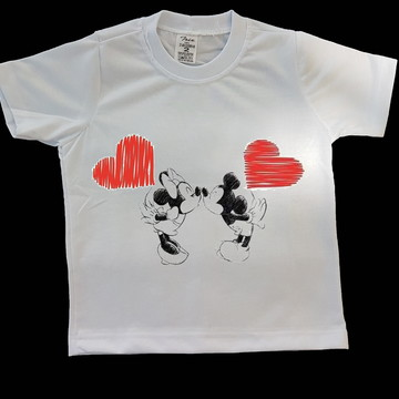 Camiseta Infantil - Mickey & Minnie