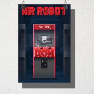 Poster A4 Mr Robot