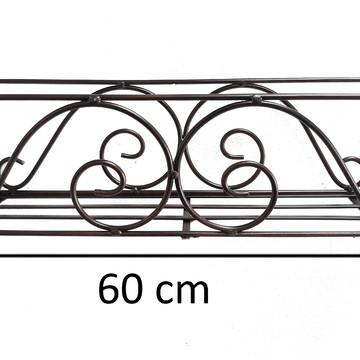 Floreira de ferro jardineira artesanal de varanda com 60cm