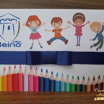 Arte Digital- Convite de formatura Infantil