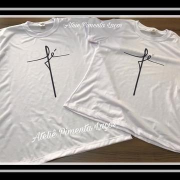 Camisetas Estampadas com a Palavra Fé