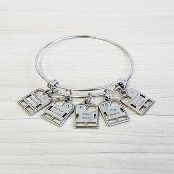 Pulseira Bracelete Feminina Tipo Vivara 10 Mandamentos