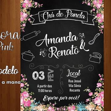 Convite digital chá de casa nova / chá de panela
