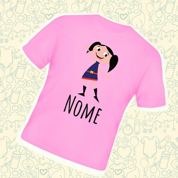 Camiseta Infantil Luna Personalizada C139RB