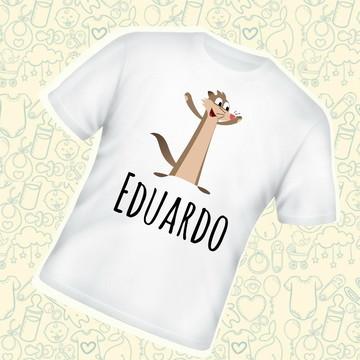 Camiseta Infantil Claudio Personalizada C141BR