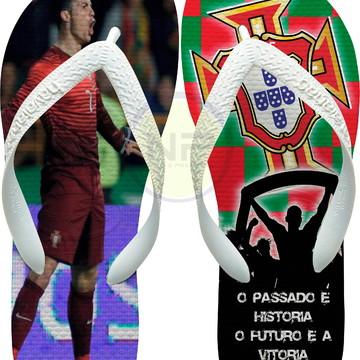 Chinelo Havaianas Personalizados CR7 - Portugal