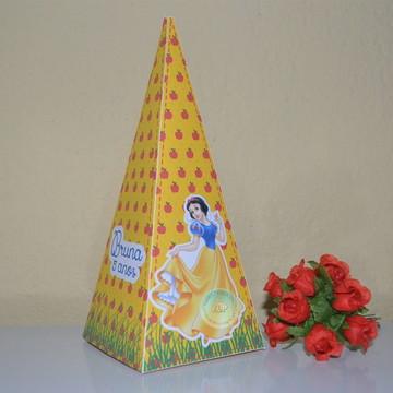 caixa pirâmide branca de neve