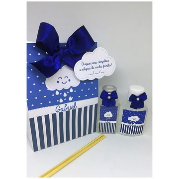 Kit caixa com aromatizador e álcool em gel-Chuva de bençãos