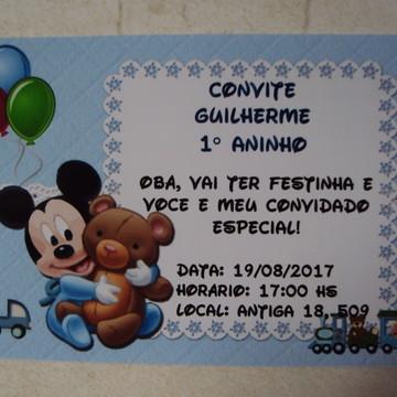 Convite Personalizado Mickey Baby 0305