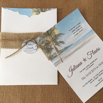 Convite de Casamento Coleção Praia