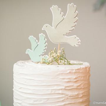 Topo para bolo - pomba da paz