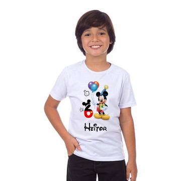 Camiseta Mickey Infantil Personalizada