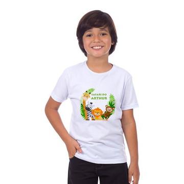 Camiseta Infantil Personalizada Aniversario Safari