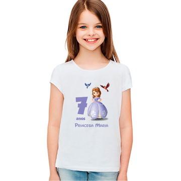 Camiseta Aniversario Princesa Sofia Personalizada