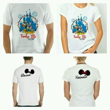 Camisetas para viagem disney