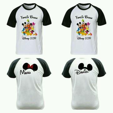 Camiseta para viagem Disney raglan