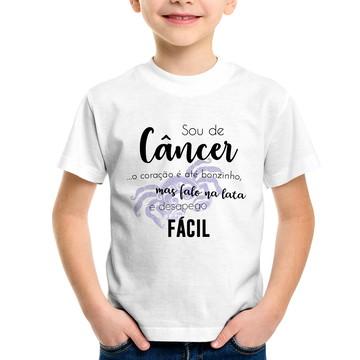 Camiseta Infantil Sou de Câncer