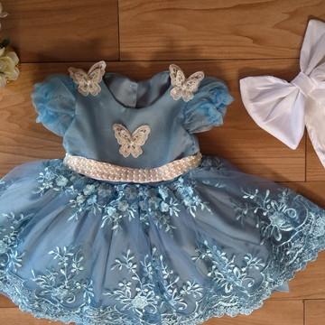 a6381b6a1 Vestido Cinderela Luxo
