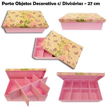 Porta Objetos Decorativo com Divisórias - 27 cm