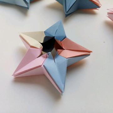 Estrela   Decoração em Origami