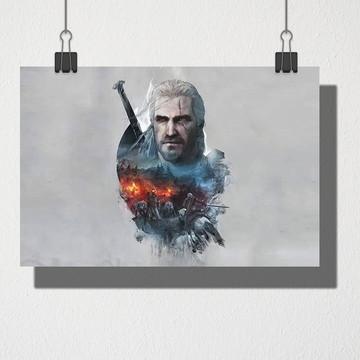 Poster A4 Geralt de Rívia