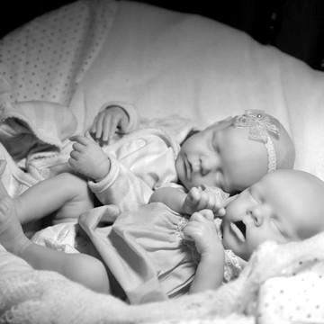 Bebês Reborn Gêmeos Twin A e Twin B
