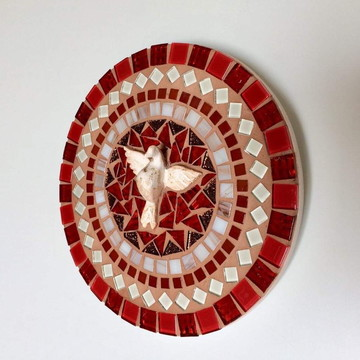 Mandala Divino Espírito Santo vermelha