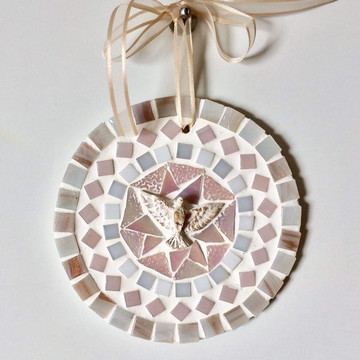 Mandala Divino em mosaico mini rosé