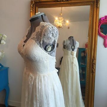 Vestido de noiva boho chic - marfim