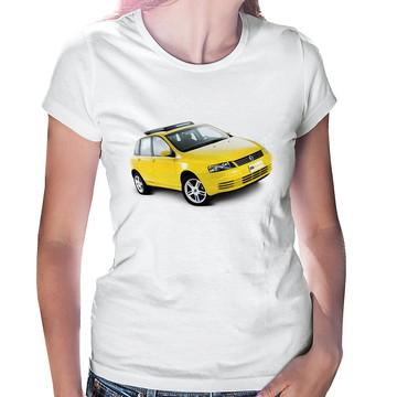Baby Look Carro Fiat Stilo Amarelo