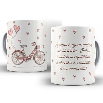 Caneca Bicicleta - A Vida em Movimento