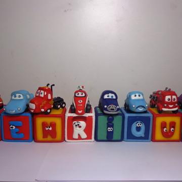 Cubos decorados Carros