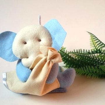 Decoração de Quarto de Bebê Elefante Baby Azulado