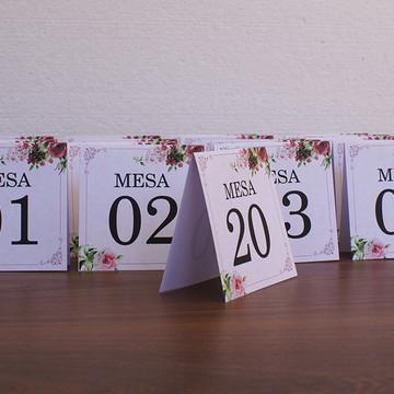Número de mesa para casamento marsala