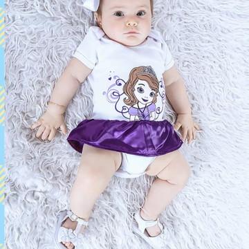 Body para Bebê da Princesa Sofia