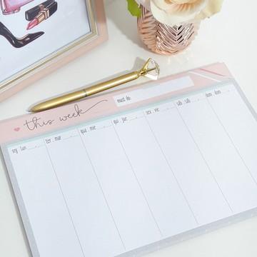 Planner de mesa semanal this week