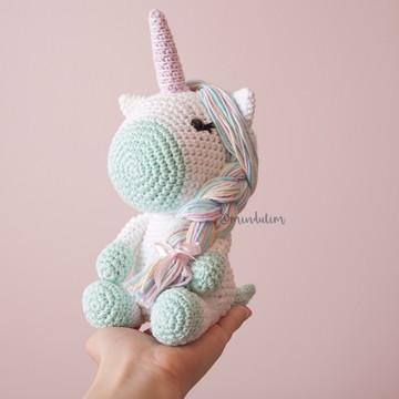 Unicórnio amigurumi | crochê | Pamela | Tam: G