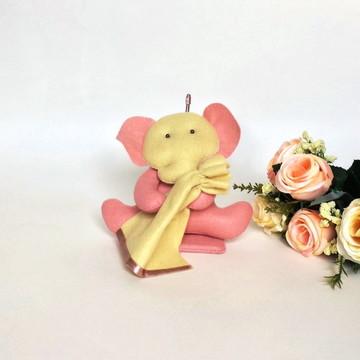 Decoração de Quarto de Bebê Elefante Baby Rosado