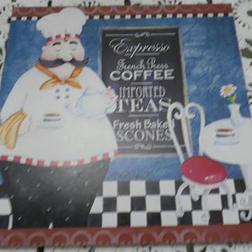 Quadro cantinho do café 24x24 cm