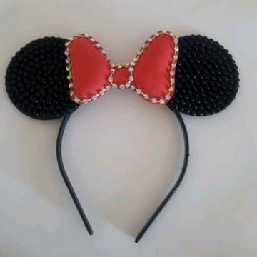 Tiara da Minnie Vermelha Luxo