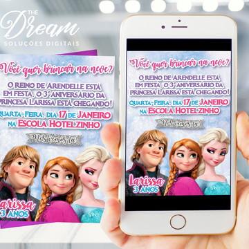 Convite Digital Frozen modelo 1
